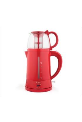 King K-8500 Teamax Demlikli Otomatik Çay Makinesi Kırmızı