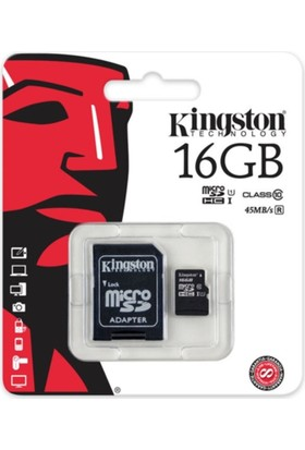 Kingston 16Gb Micro Sdhc Kart Class10 Sdc10G2/16Gb