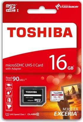 Toshiba 16 Gb Micro Sdhc Uhs-1 C10 Thn-M302R0160Ea