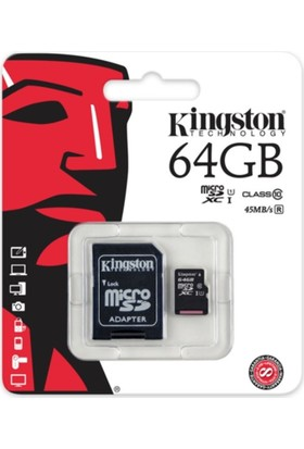 Kingston 64Gb Micro Sd Class 10 Cl10 Sdc10G2/64Gb