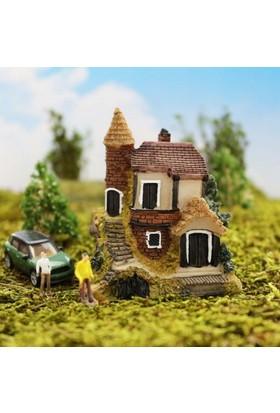 Greenmall Terraryum ve Mini Bahçeler İçin Maket Mini Ev - 16
