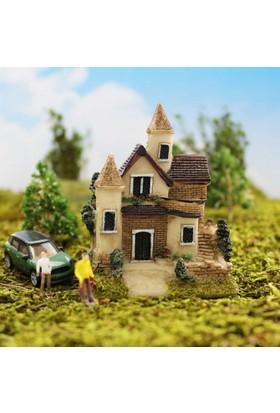 Greenmall Terraryum ve Mini Bahçeler İçin Maket Mini Ev - 18