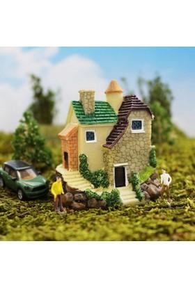 Greenmall Terraryum ve Mini Bahçeler İçin Maket Mini Ev - 21