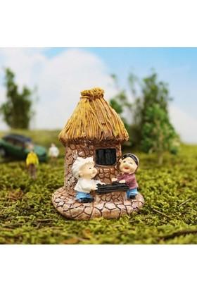Greenmall Terraryum ve Mini Bahçeler İçin Maket Mini Ev - 33
