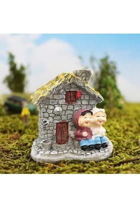 Greenmall Terraryum ve Mini Bahçeler İçin Maket Mini Ev - 35