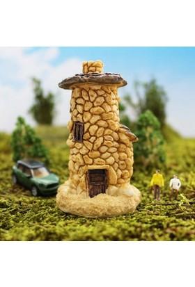 Greenmall Terraryum ve Mini Bahçeler İçin Maket Mini Ev - 42