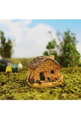 Greenmall Terraryum ve Mini Bahçeler İçin Maket Mini Ev - 43