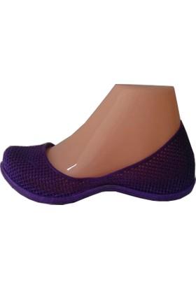 Heradimda Mor Deniz Ayakkabısı Mor Plaj Ayakkabısı Şık Deniz Babeti