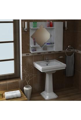 Dekorea Eda Aynalı Banyo Dolabı