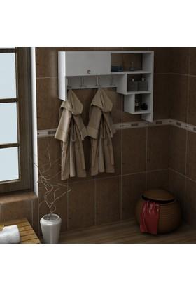 Dekorea Menekşe Banyo Dolabı Askısı