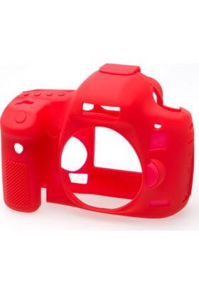 Canon 5D Mark 3 / 5DS R / 5DS Kırmızı EasyCover (Silikon Kılıf)