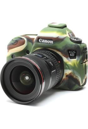 Canon 6D Kamuflaj EasyCover (Silikon Kılıf)