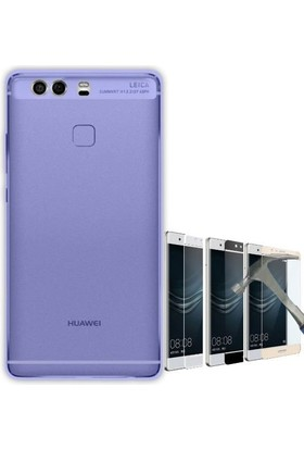 Teleplus Huawei P10 Yumuşak Silikon Kılıf + Tam Kapatan Cam Ekran Koruyucu