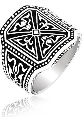 Gümüş Rüyası Gümüş Taşsız, Köşeli Erkek Yüzük 1220