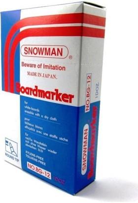 Snowman Beyaz Tahta Kalemi Bg 12 Siyah 12 Adet Yuvarlak Uç