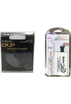 Emolux 62mm DLP Circular Polarize Filtre + Temizlik Kiti