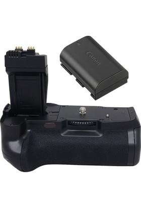 Canon Eos 70D & 80D Grip + LP-E6 Batarya