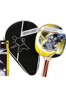 Donic 788480 Top Team 500 ITTF Onaylı Masa Tenisi Top Kılıf Raket Seti