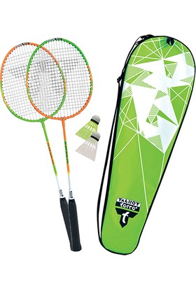 Talbot Torro 2-Attacker 2 Raket 2 Top Çelik Badminton Raket Seti