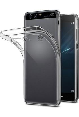 Microcase Huawei P10 5.1 Ultra İnce Silikon Kılıf+Tempered Glass