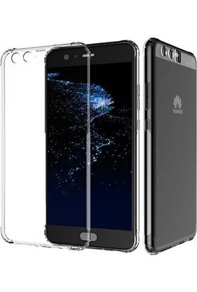 Microcase Huawei P10 Plus 5.5 Ultra İnce Silikon Kılıf+Tempered Glass