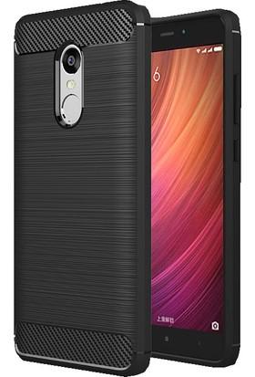 Microcase Xiaomi Redmi Note 4 Brushed Carbon Fiber Silikon TPU Kılıf