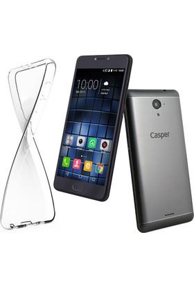 Microcase Casper Via E2 Ultra İnce Silikon Kılıf+Tempered Glass