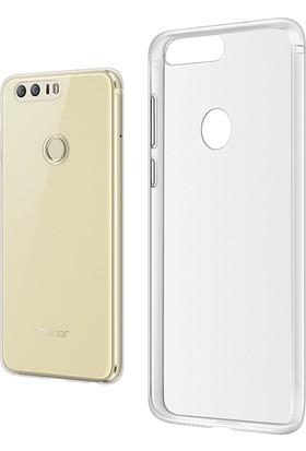 Microcase Huawei Honor 8 Ultra İnce 0.2 mm Soft Silikon Kılıf+Tempered Cam