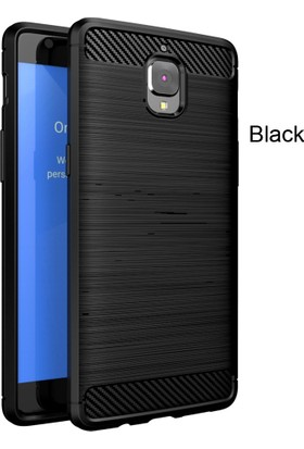 Microcase OnePlus 3 - 3T Brushed Carbon Fiber Silikon TPU Kılıf