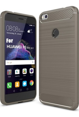 Microcase Huawei P9 Lite 2017 Brushed Carbon Fiber Silikon TPU Kılıf