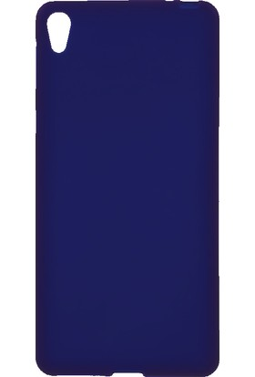 Microcase Sony Xperia E5 Premium Mat Silikon Kılıf+Tempered Cam