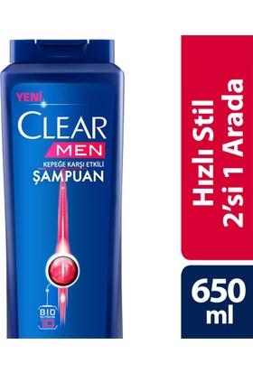 Clear Şampuan Hızlı Stil 2 Si 1 Arada 650 Ml