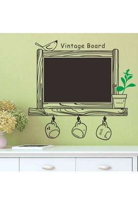 Ev Dekorasyonu Yazılabilir Kara Tahta Dekoratif Kendinden Yapışkanlı PVC Sticker Duvar Dekoru Vintage Board