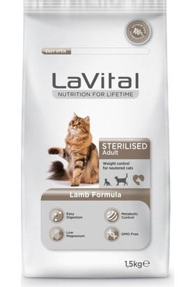 Lavital Cat Adult Sterilised Lamb Kedi Maması 1,5 kg