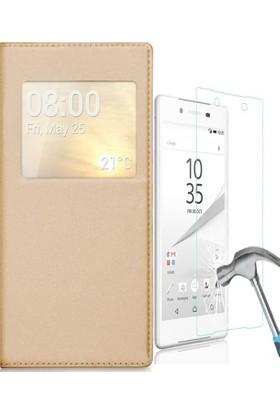 Kılıfshop Sony Xperia Xa1 Ultra Pencereli Kılıf + Ekran Koruyucu