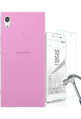 Kılıfshop Sony Xperia Xa1 Ultra Silikon Kılıf + Ekran Koruyucu