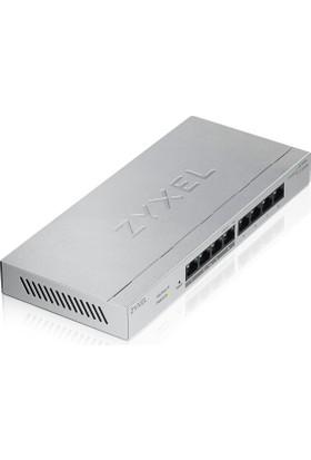 Zyxel GS1200-8HP 8-Port POE 10/100/1000Mbps Tak-Kullan QoS 60W Toplam Güç Destekli Web-Yönetilebilir Güçten Tasarruflu Gigabit Switch