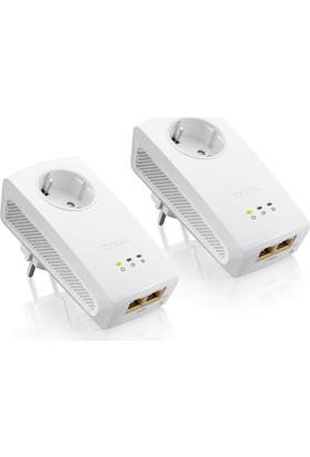 Zyxel PLA5256 Kit 1000 Mbps Priz Girişli 2 Gigabit Portlu Powerline Kit