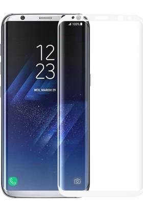 Microsonic Samsung Galaxy S8 Plus 3D Kavisli Temperli Cam Ekran koruyucu Film Beyaz