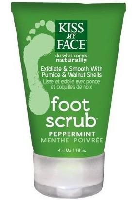 Kiss My Face Foot Scrub Peppermint 118 ml Sünger Taşı ve Ceviz Özlü Naneli Ayak Peelingi