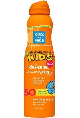 Kiss My Face Defense With Any Angle Air Powered Spray Spf 50 Çocuklar İçin Şeffaf Güneş Koruyucu Sprey 177 ml