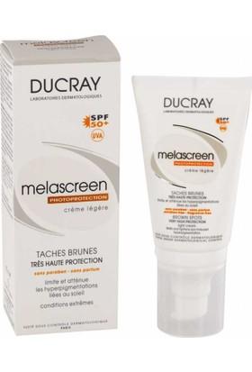 Ducray Melascreen Creme Solaire SPF 50 Yüksek Korumalı Güneş Kremi Legere - 30 ml