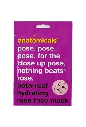 Anatomicals Rose Botanical Cloth Face Mask 25 g - Yüz Maskesi