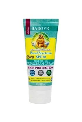 Badger Balm Spf 30 Baby Sunscreen Cream 87 ml Bebekler İçin Güneş Kremi