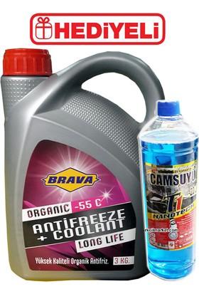 Brava Antifriz Kırmızı Organic -55 C - 3 litre + Cam Suyu