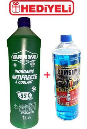 Brava Antifriz Yeşil -55 C - 1 litre + Cam Suyu
