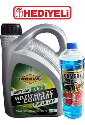 Brava Antifriz Yeşil -55 C - 3 litre + Cam Suyu