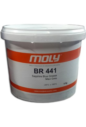 Moly BR 441 Mavi Rulman Gresi - 4 kg