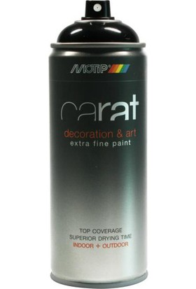 Motip Carat Mat Siyah Sprey Boya - 400 ml RAL9005