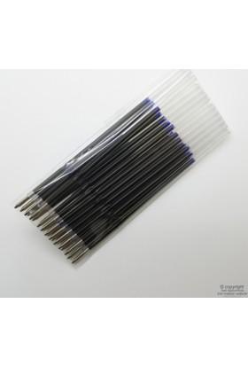 Plastik Kalem Yedeği Mavi 20'li Paket - Genellikle reklam kalemlerinde kullanılır